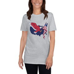 American Eagle Flag Women's T-Shirt MatchingStyle.com Sport Grey S