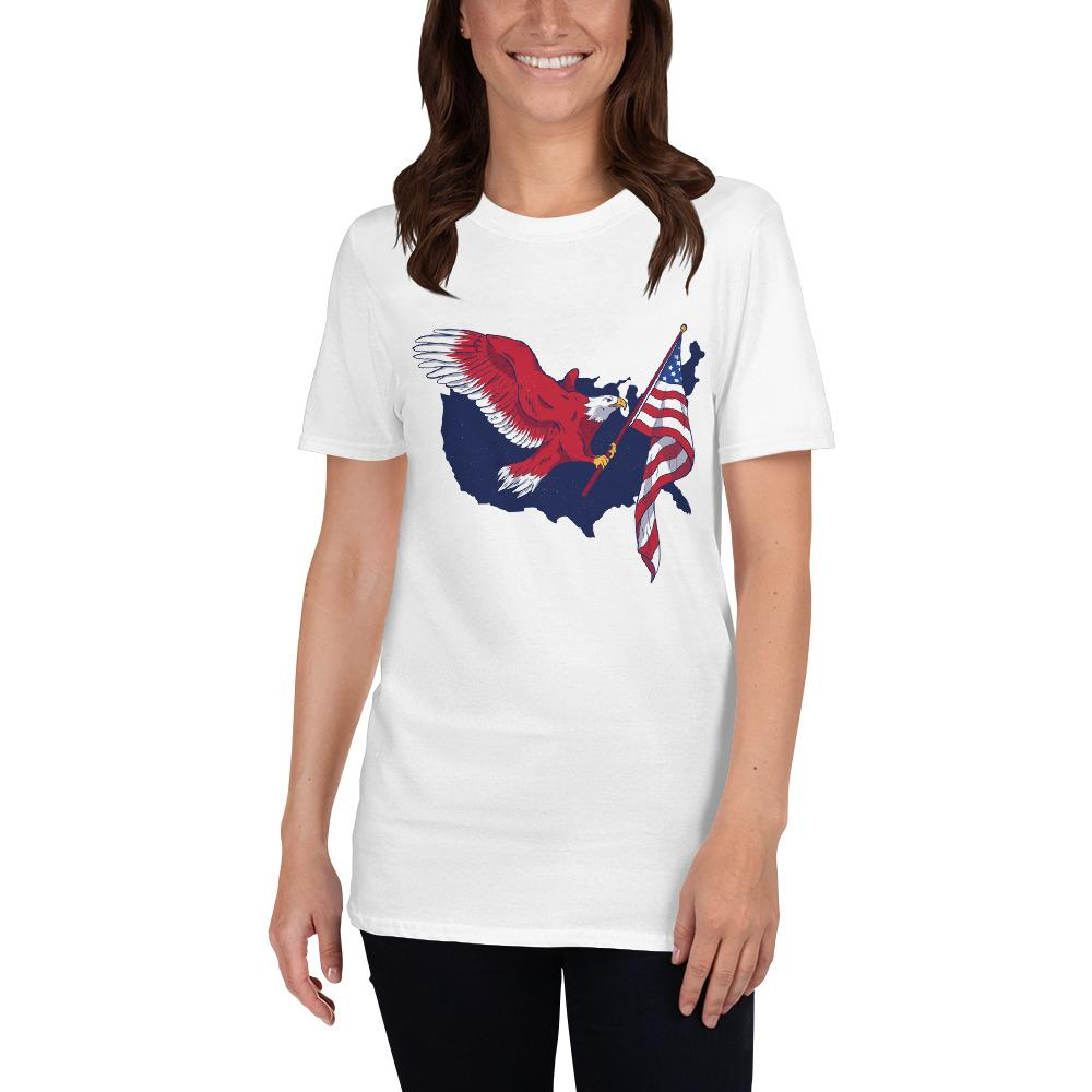 American Eagle Flag Women's T-Shirt MatchingStyle.com White S