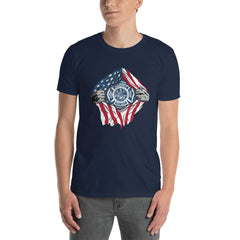 American Fireman Men's T-Shirt MatchingStyle.com Navy S