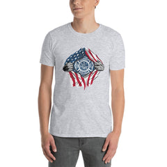 American Fireman Men's T-Shirt MatchingStyle.com Sport Grey S