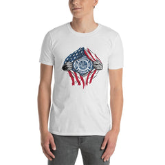 American Fireman Men's T-Shirt MatchingStyle.com White S