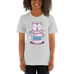 Anti Depressive Cat Women's T-Shirt MatchingStyle.com Athletic Heather S