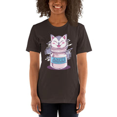 Anti Depressive Cat Women's T-Shirt MatchingStyle.com Brown S