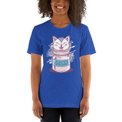 Anti Depressive Cat Women's T-Shirt MatchingStyle.com Heather True Royal S