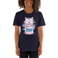 Anti Depressive Cat Women's T-Shirt MatchingStyle.com Navy S