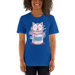 Anti Depressive Cat Women's T-Shirt MatchingStyle.com True Royal S