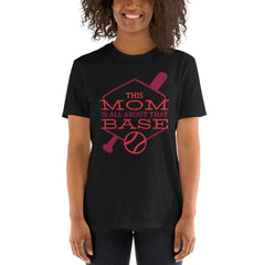 Base Mom Women's T-Shirt MatchingStyle.com Black S