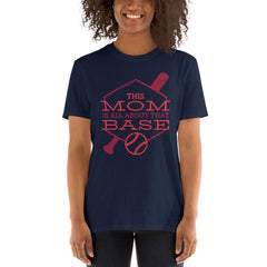 Base Mom Women's T-Shirt MatchingStyle.com Navy S
