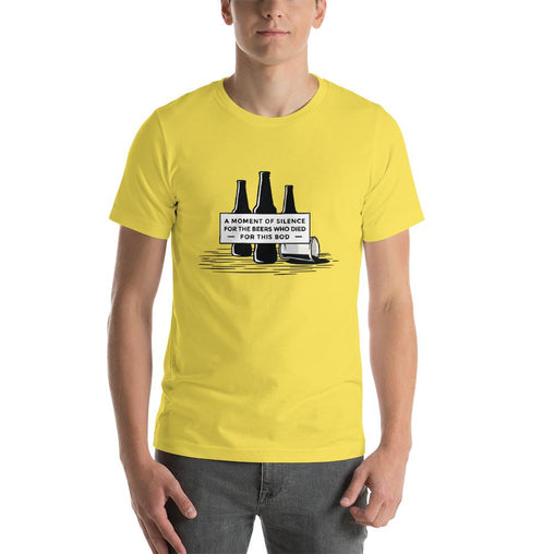 Beer Bottle Men's T-Shirt MatchingStyle.com Yellow S