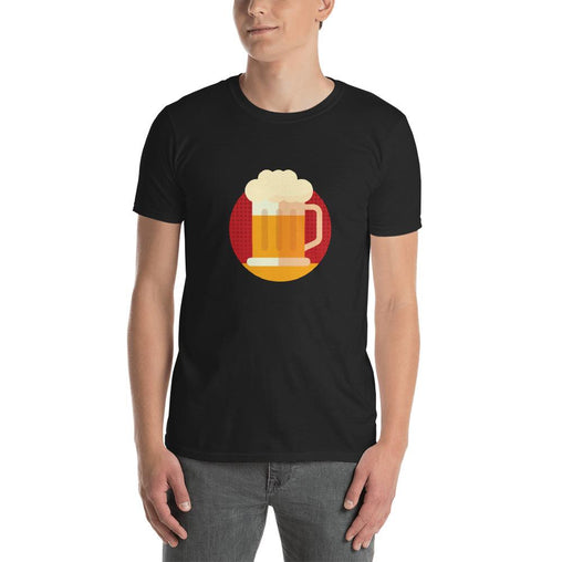 Beer Emoji Men's T-Shirt MatchingStyle.com Black S