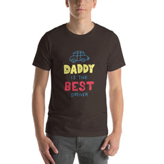 Best Daddy Driver Men's T-Shirt MatchingStyle.com Brown S