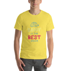 Best Daddy Driver Men's T-Shirt MatchingStyle.com Yellow S
