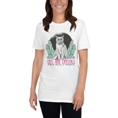 Cats And Crystals Women's T-Shirt MatchingStyle.com White S