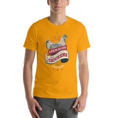 Chicken Farm Life Vintage Men's T-Shirt MatchingStyle.com Gold S