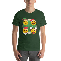Christmas Emojis Men's T-Shirt MatchingStyle.com Forest S