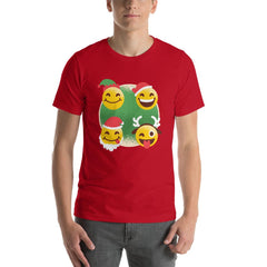 Christmas Emojis Men's T-Shirt MatchingStyle.com Red S