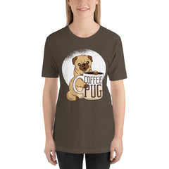 Coffee With Pug Women's T-Shirt MatchingStyle.com Army S