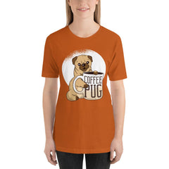 Coffee With Pug Women's T-Shirt MatchingStyle.com Autumn S