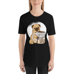 Coffee With Pug Women's T-Shirt MatchingStyle.com Black S