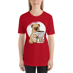 Coffee With Pug Women's T-Shirt MatchingStyle.com Red S