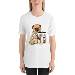 Coffee With Pug Women's T-Shirt MatchingStyle.com White S