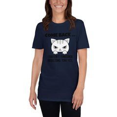 Come Back Grumpy Cat Women's T-Shirt MatchingStyle.com Navy S