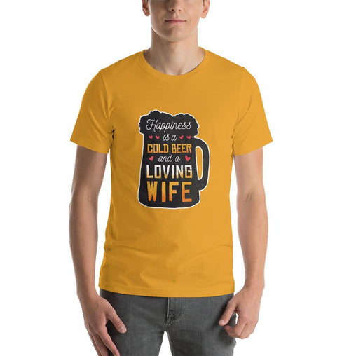 Cool Beer Mug Men's T-Shirt MatchingStyle.com Mustard S