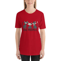 Cool Cats Women's T-Shirt MatchingStyle.com Red S