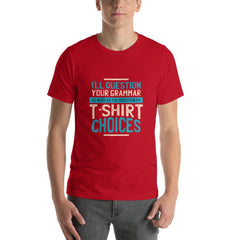Cool Funny Men's T-Shirt MatchingStyle.com Red S