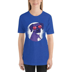 Cool Shady Dog Women's T-Shirt MatchingStyle.com Heather True Royal S