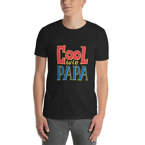 Cool Wie Papa Men T-Shirt MatchingStyle.com Black S