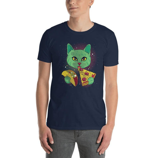 Cosmic Cat Men's T-Shirt MatchingStyle.com Navy S