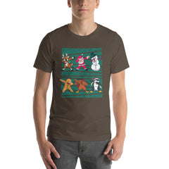 Dab Christmas Men's T-Shirt MatchingStyle.com Army S