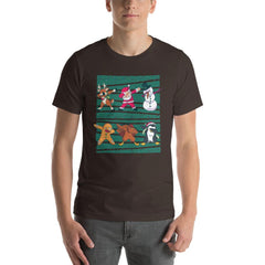 Dab Christmas Men's T-Shirt MatchingStyle.com Brown S