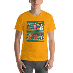 Dab Christmas Men's T-Shirt MatchingStyle.com Gold S