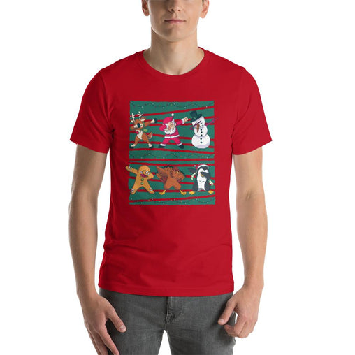 Dab Christmas Men's T-Shirt MatchingStyle.com Red S