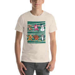 Dab Christmas Men's T-Shirt MatchingStyle.com Soft Cream S