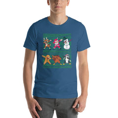 Dab Christmas Men's T-Shirt MatchingStyle.com Steel Blue S