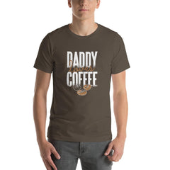 Daddy Loves Coffee Men's T-Shirt MatchingStyle.com Army S