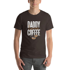 Daddy Loves Coffee Men's T-Shirt MatchingStyle.com Brown S