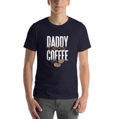 Daddy Loves Coffee Men's T-Shirt MatchingStyle.com Navy S