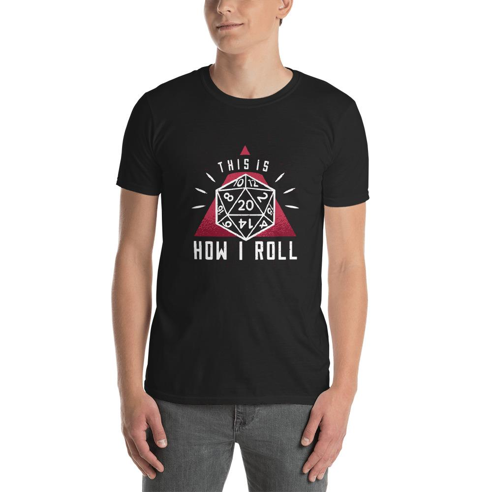 Dice Roll Men's T-Shirt MatchingStyle.com Black S