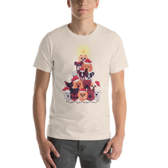 Dog Christmas Tree Men's T-Shirt MatchingStyle.com Soft Cream S