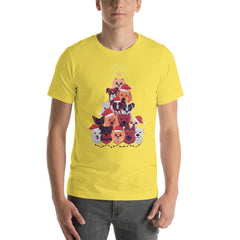 Dog Christmas Tree Men's T-Shirt MatchingStyle.com Yellow S