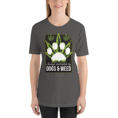 Dogs and Weed Women's T-Shirt MatchingStyle.com Asphalt S