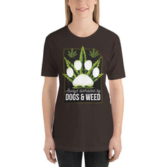 Dogs and Weed Women's T-Shirt MatchingStyle.com Brown S