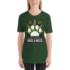 Dogs and Weed Women's T-Shirt MatchingStyle.com Forest S