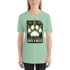 Dogs and Weed Women's T-Shirt MatchingStyle.com Heather Prism Mint S