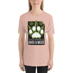 Dogs and Weed Women's T-Shirt MatchingStyle.com Heather Prism Peach S
