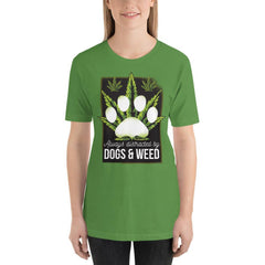 Dogs and Weed Women's T-Shirt MatchingStyle.com Leaf S